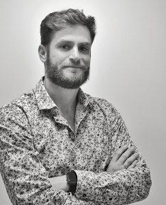 Retrato fotográfico de Jean Carlos Puerto en blanco y negro. Quien soy